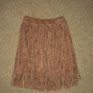 Dresses & Skirts - Brown fringe skirt
